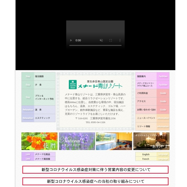 Screenshot of www.menard.co.jp