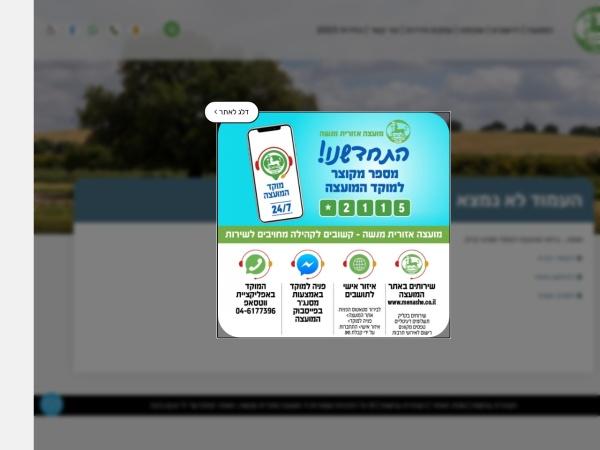 Screenshot of www.menashe.co.il