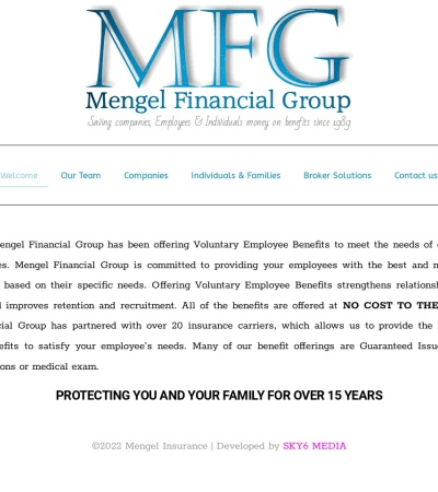 Screenshot of www.mengelinsurance.com