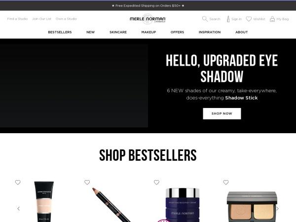 Screenshot of www.merlenorman.com