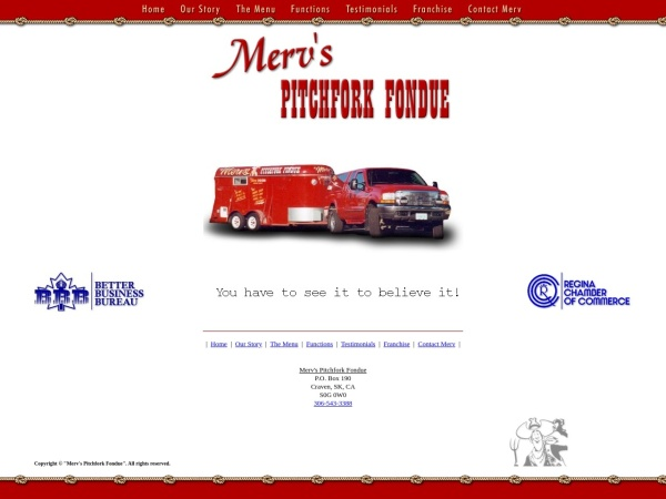 Screenshot of www.mervspitchforkfondue.com