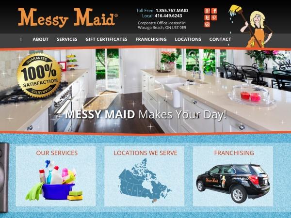 Screenshot of www.messymaid.com