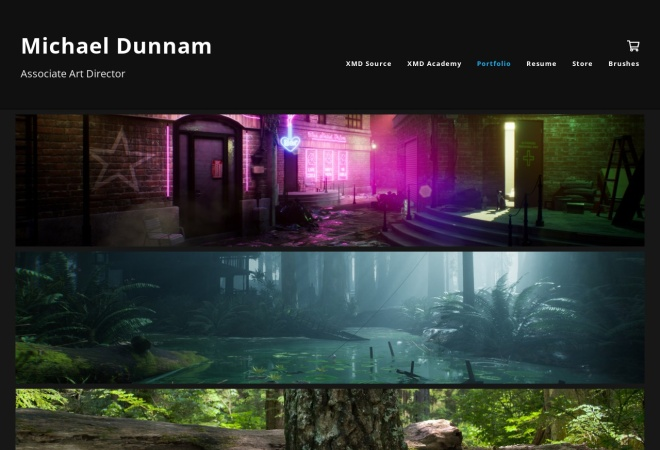 Screenshot of www.michaeldunnam.com