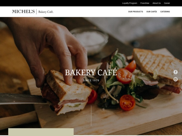 Screenshot of www.michelsbakerycafe.com