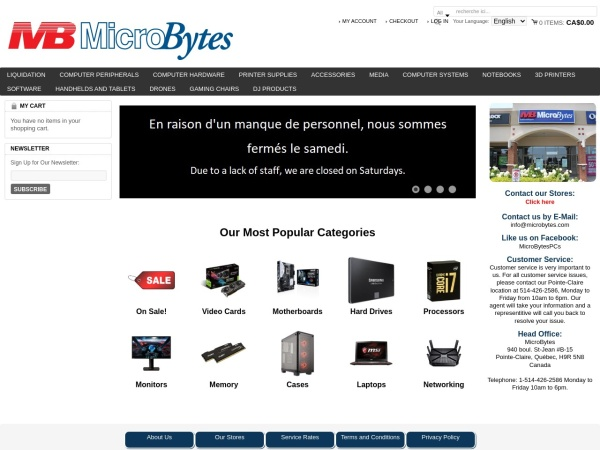 Screenshot of www.microbytes.com
