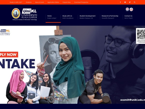 Screenshot of www.miit.unikl.edu.my