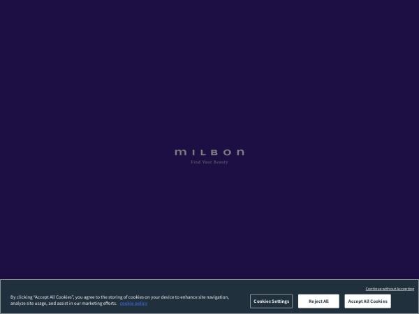 Screenshot of www.milbon.co.jp