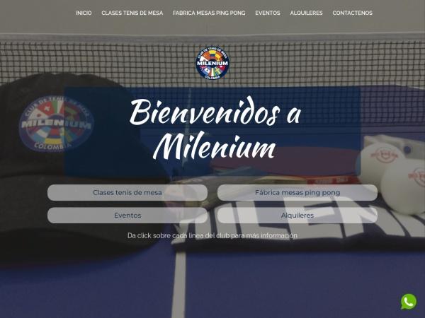 Captura de pantalla de www.mileniumtenisdemesa.com
