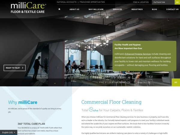 Screenshot of www.millicare.com
