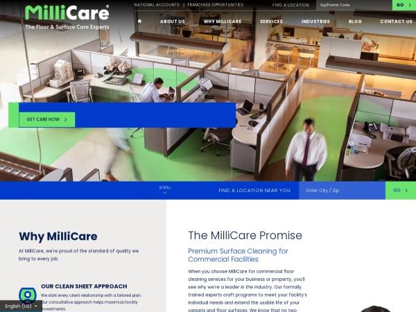 Screenshot of www.millicare.com