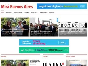 Captura de pantalla de www.mirabuenosaires.com.ar