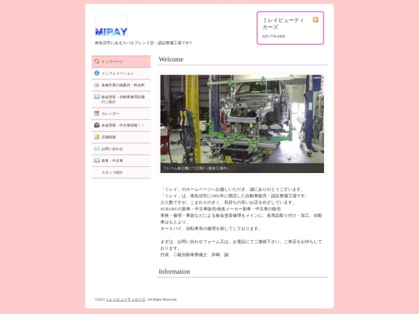 Screenshot of www.mirays.com
