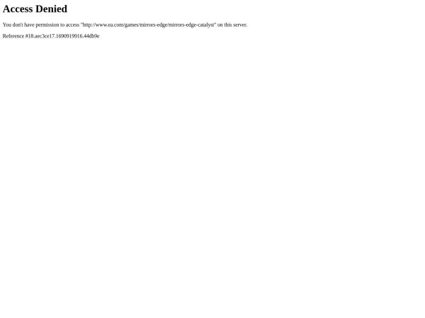 Screenshot of www.mirrorsedge.com