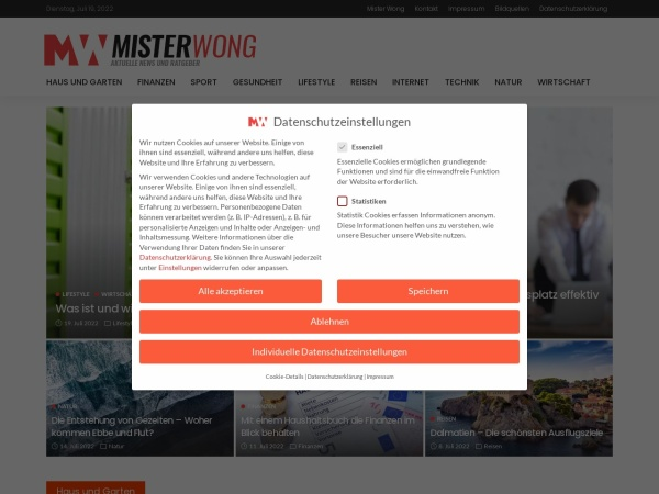 Suchmaschine MisterWong.de