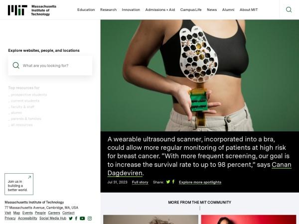Screenshot of www.mit.edu