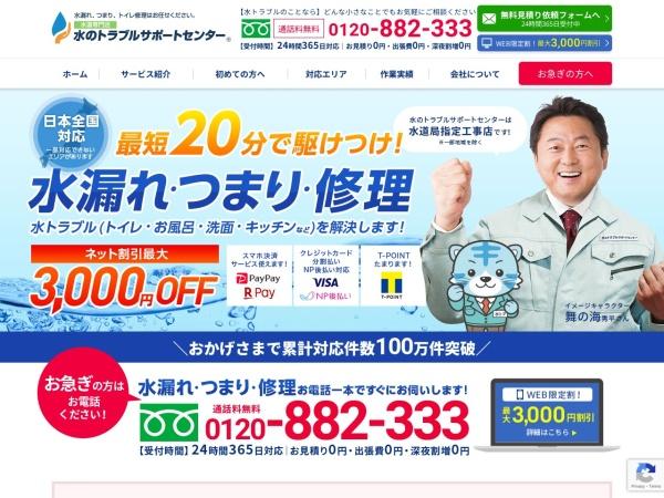Screenshot of www.mizu-support.com