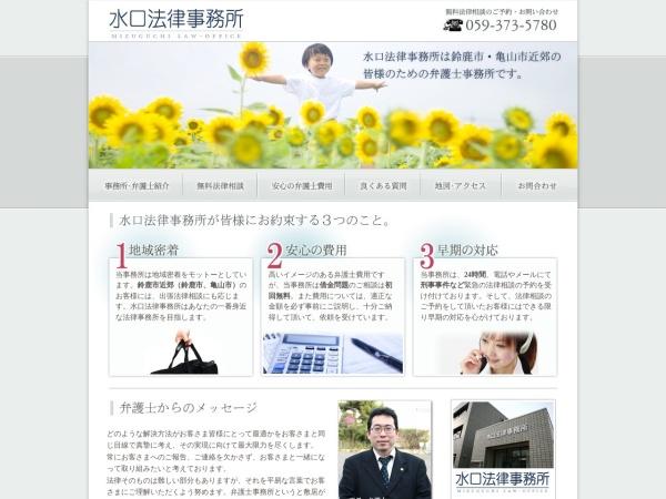 Screenshot of www.mizuguchi-law.com