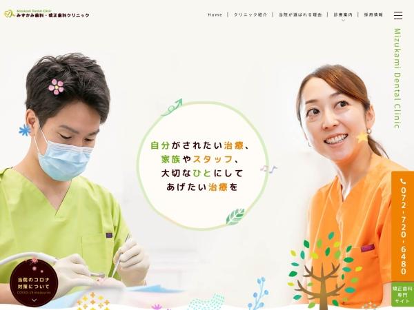 Screenshot of www.mizukami-dental.com