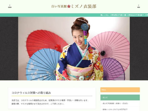 Screenshot of www.mizuno-shashinkan.com