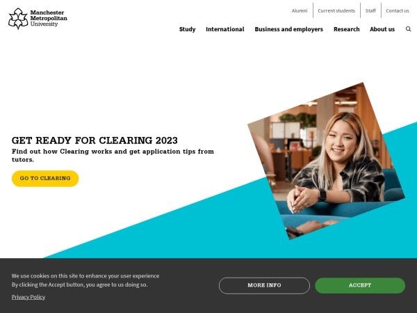 Screenshot of www.mmu.ac.uk
