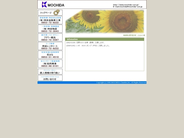 Screenshot of www.mochida-con.jp