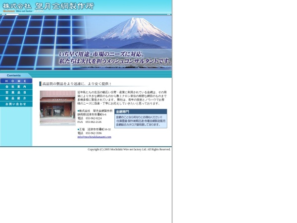 Screenshot of www.mochizukikanaami.com