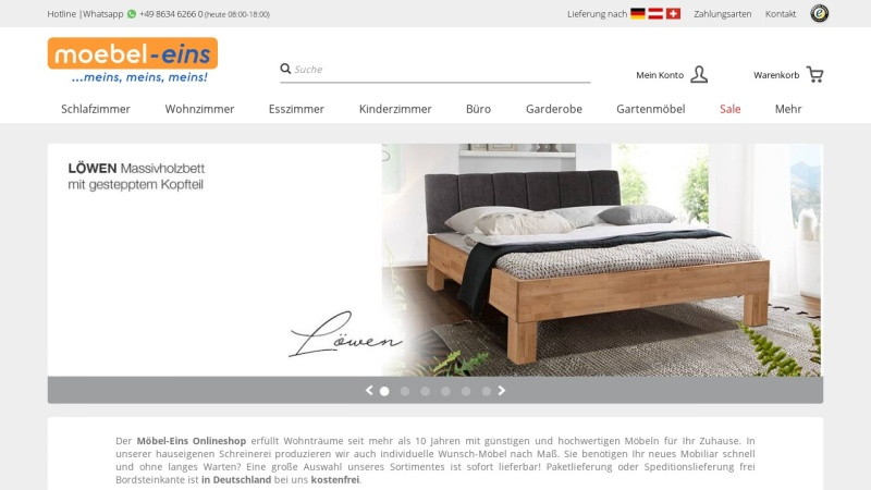 Screenshot of www.moebel-eins.de