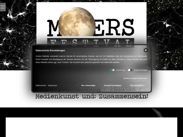 Screenshot von www.moers-festival.de