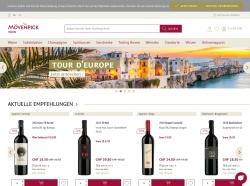 Screenshot von www.moevenpick-wein.com