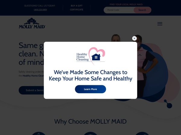 Screenshot of www.mollymaid.ca