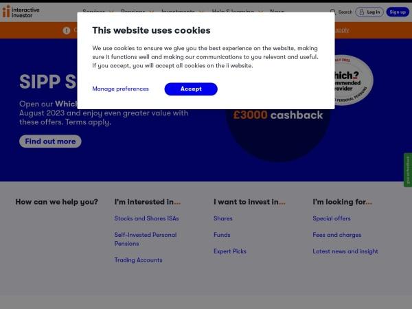 Screenshot of www.moneyobserver.com