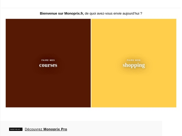 Screenshot of www.monoprix.fr