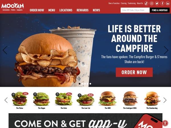 Screenshot of www.mooyah.com