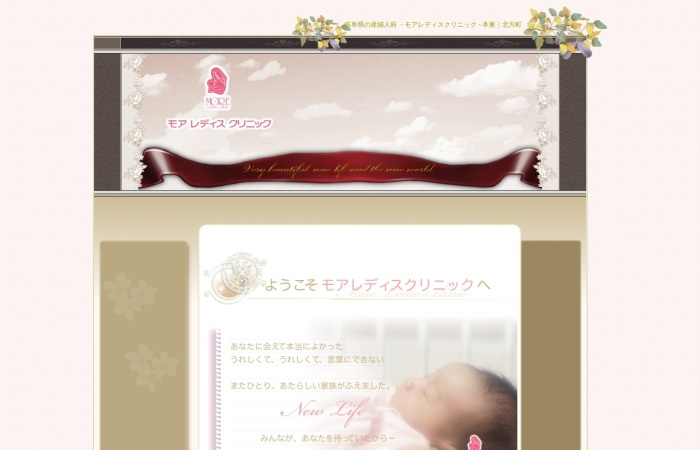 Screenshot of www.morelady.jp
