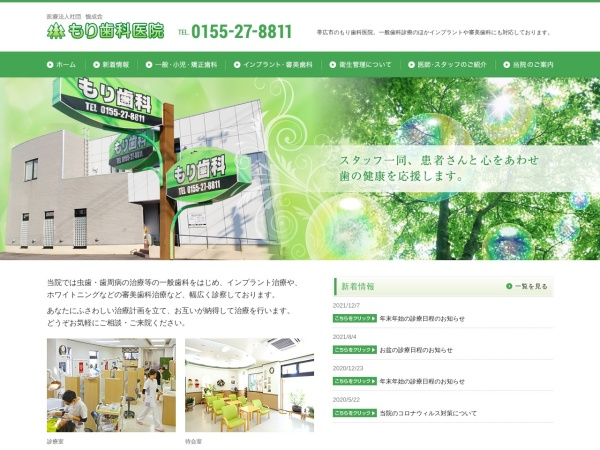 Screenshot of www.mori-dental.com
