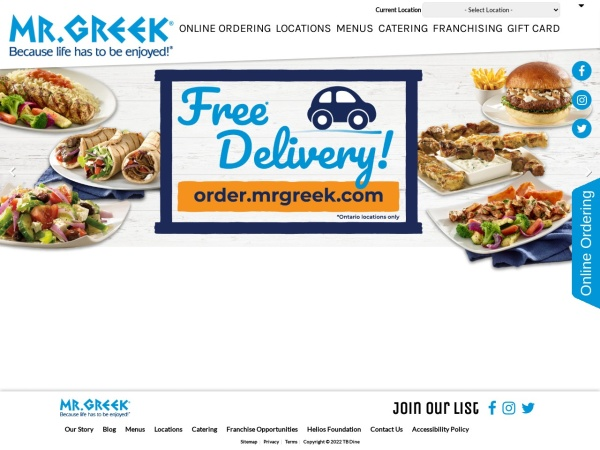 Screenshot of www.mrgreek.com