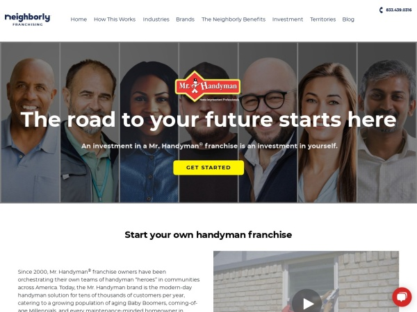 Screenshot of www.mrhandymanfranchise.com