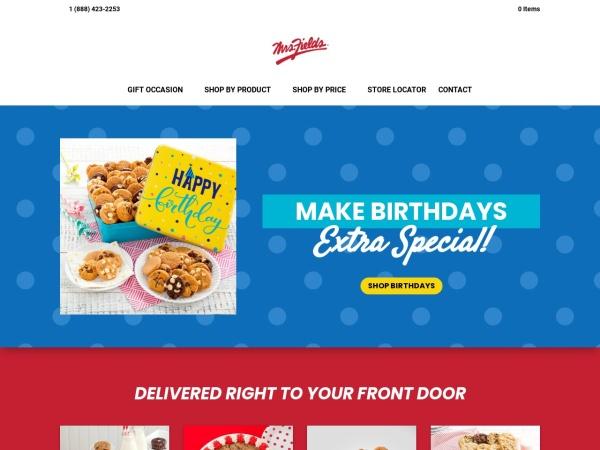 Screenshot of www.mrsfields.ca
