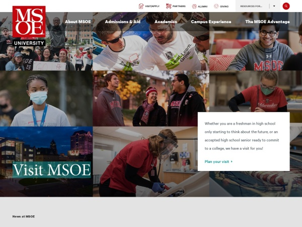 Screenshot of www.msoe.edu