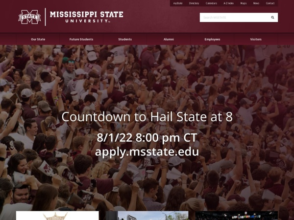 Screenshot of www.msstate.edu