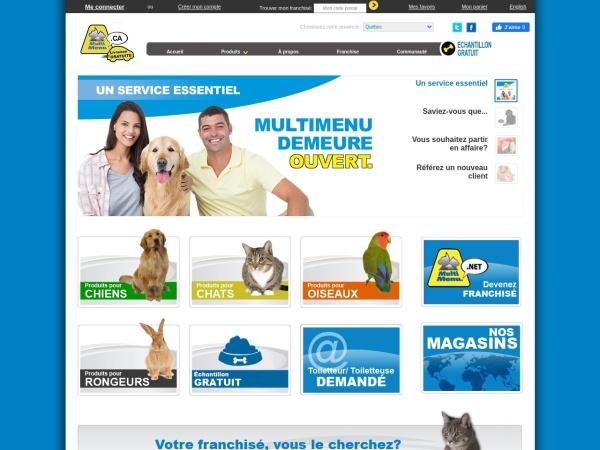 Screenshot of www.multimenu.ca
