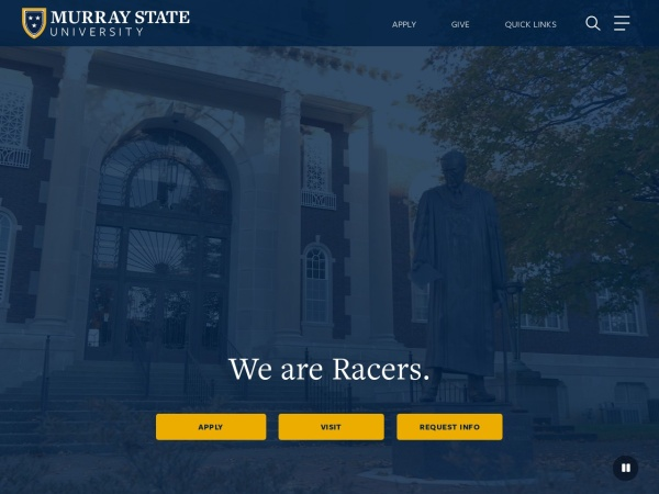 Screenshot of www.murraystate.edu