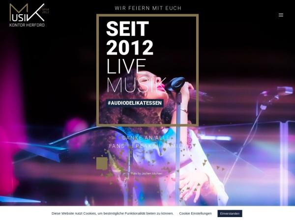 Screenshot von www.musik-kontor-herford.de