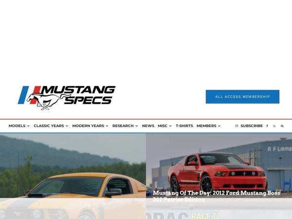 Screenshot of www.mustangheaven.com