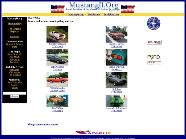 Screenshot of www.mustangii.org