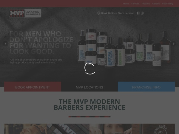 Screenshot of www.mvpmodernbarbers.com