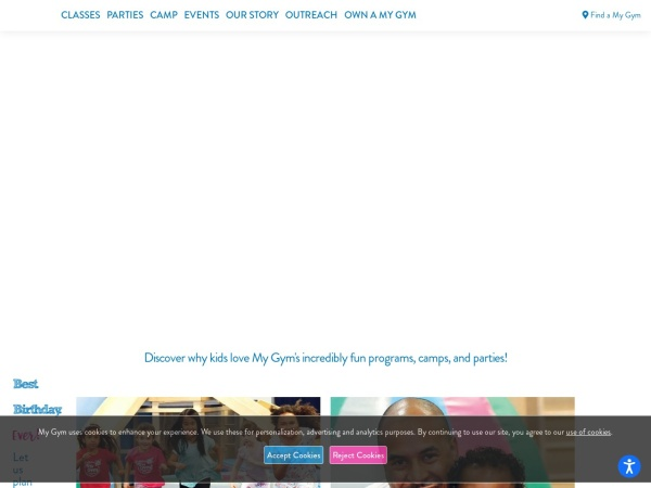 Screenshot of www.mygym.com