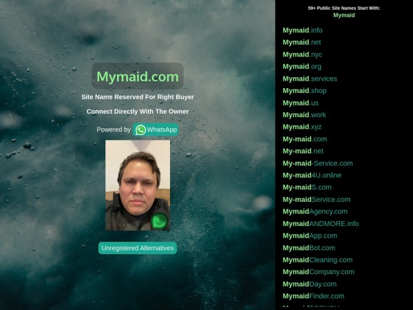 Screenshot of www.mymaid.com