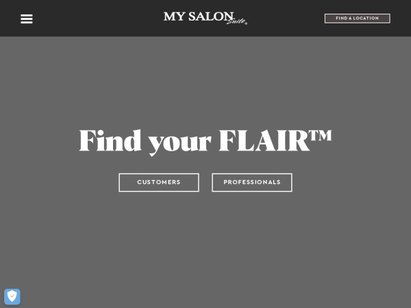 Screenshot of www.mysalonsuite.com