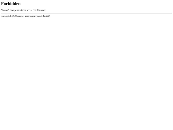 Screenshot of www.naganocamera.co.jp